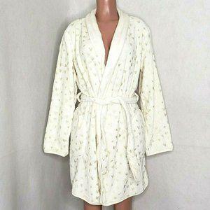 Martha Stewart Reversible Plush Robe Hearts